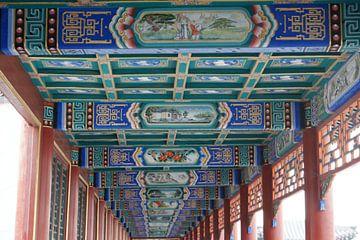 Lange Corridor Kunstwerken Koninklijke Parken Beijing Plafond van Ben Nijhoff