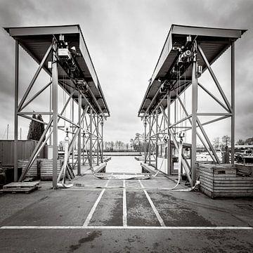 Botenlift voor zeil- en motorjachten sur Paul Kaandorp