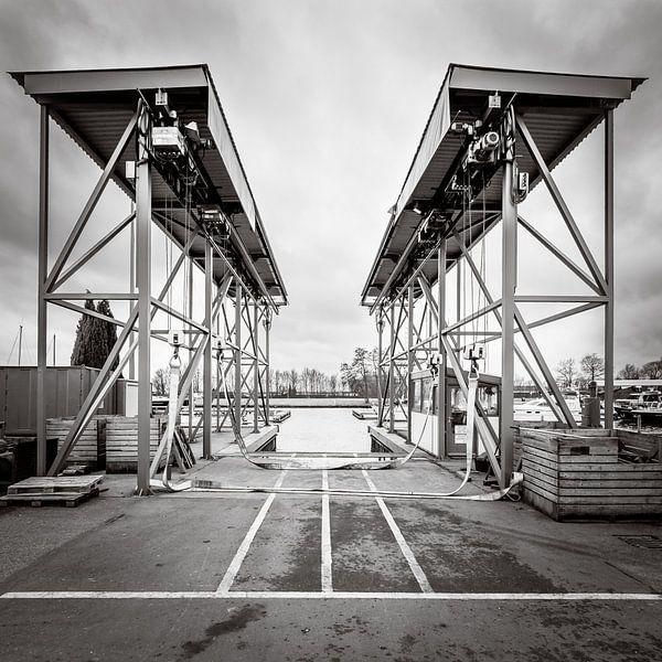 Botenlift voor zeil- en motorjachten van Paul Kaandorp
