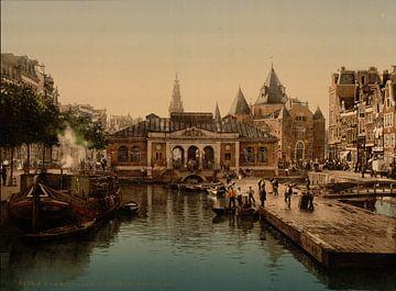 Vismarkt en Waag, Amsterdam sur Vintage Afbeeldingen
