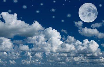 Maan, wolken en sterren van