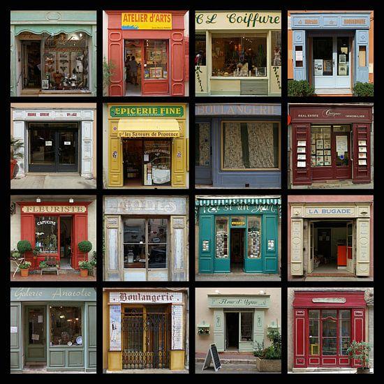 Collage van authentieke Franse etalages. van Gert van Santen