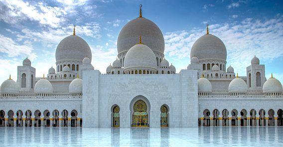 Hoofdingang van de Sheikh Zayed-moskee