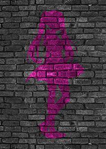 Anime roze silhouet van KalliDesignShop