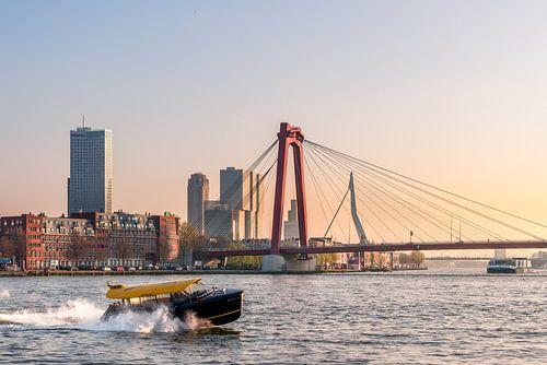 Die Rotterdam-Brücken bei Sonnenuntergang von Prachtig Rotterdam