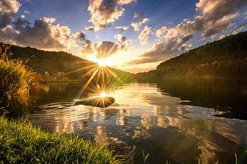 Tolle See landschaft in der Natur mit Sonnenuntergang von Fotos by Jan Wehnert