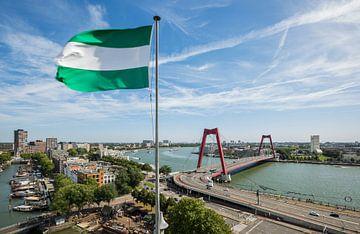 Vue sur la ville de Rotterdam sur MS Fotografie | Marc van der Stelt