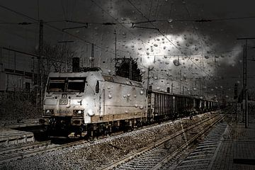185 009 DB - Güterzug van Burkhard Kohnert