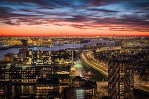 Skyline Rotterdam-West en Havengebied