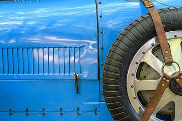 Bugatti Typ 43 klassischer Sportwagen der 1920er Jahre Reserveraddetails von Sjoerd van der Wal