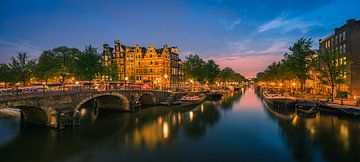 Panorama Amsterdam am Schnittpunkt der Prinsengracht und der Brouwersgracht