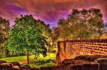 De Oude Stadsmuur van Amersfoort van Kei(stad) Donker