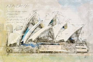 Sydney Opera House, Australië van Theodor Decker