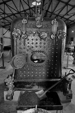 Vieux train à vapeur de l'île Maurice Edition Noir et Blanc sur Faucon Alexis