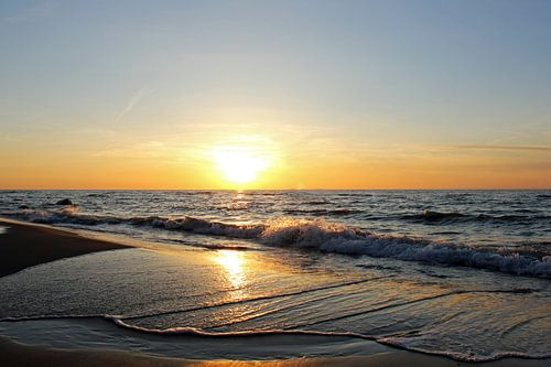 Sonnenuntergang auf Rügen van Ostsee Bilder