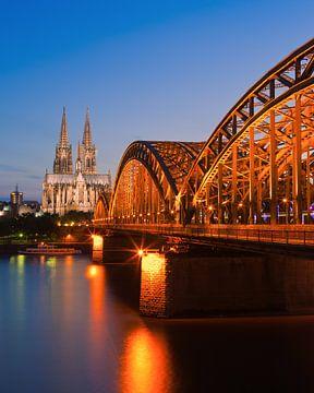 De Dom & Hohenzollern Brug, Keulen, Duitsland. van Henk Meijer Photography