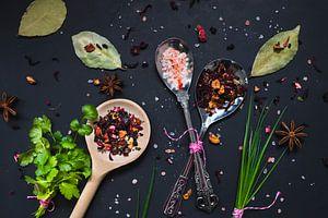 Kruiden in de keuken, kitchen herbs van Corrine Ponsen