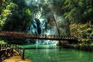 Kuang Si watervallen, Luang Prabang, Laos van