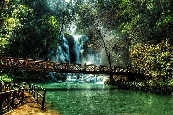 Kuang Si watervallen, Luang Prabang, Laos