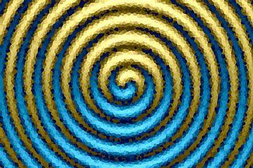 Spiraal blauw-goud van Marion Tenbergen