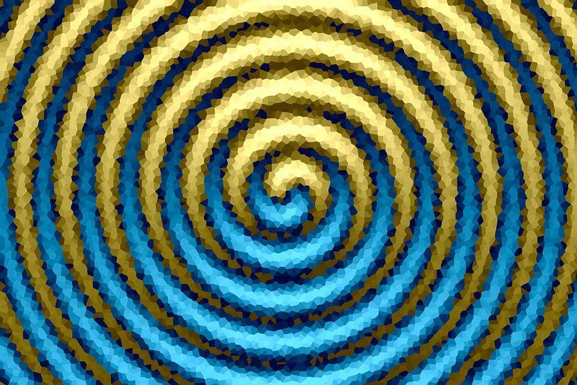 Spirale blau-gold von Marion Tenbergen