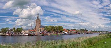Gezicht op Hasselt (Overijssel)  /  View of Hasselt (Overijssel) van Wim Kanis