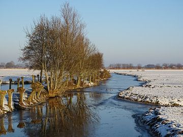 Winters landschap met sneeuw en ijs - snow landscape - Schneelandschaft von Ineke Duijzer