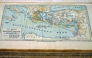 Oude Landkaart in Boek