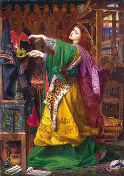 Frederick Sandys, Morgana le Fay - 1864 von Atelier Liesjes