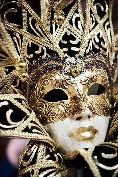 Venetiaans masker goud van Karel Ham