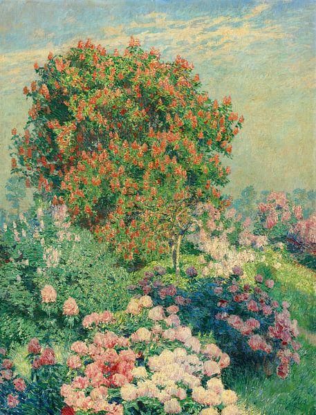 Der Blumengarten im Mai, Emile Claus von Meesterlijcke Meesters