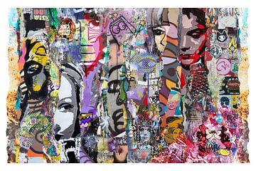 Collage van straatkunst van Dennisart Fotografie