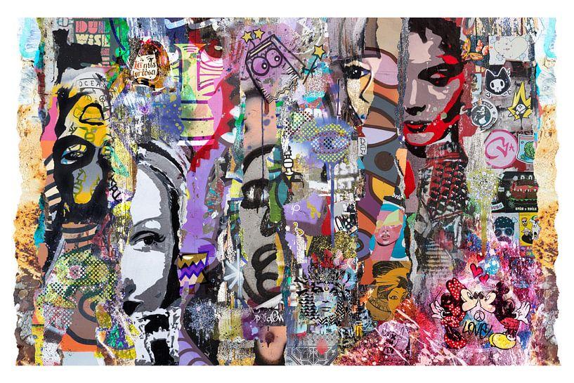 Collage der Straßenkunst von Dennisart Fotografie