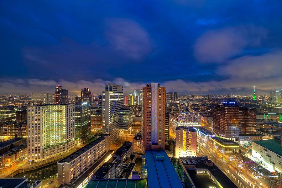 Rotterdam van bovenaf van Roy Poots