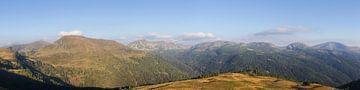 Bergpanorama over de Nockbergen van