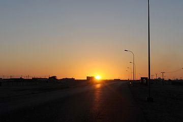 Zonsondergang bij Salalah van Alphapics