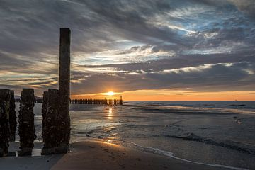 Paalhoofd zonsondergang von Linda Raaphorst