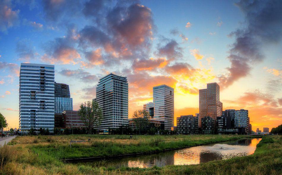 Zuid-as Amsterdam ochtendgloren