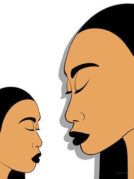 Innerlijke Schoonheid - Moeder En Dochter van Ton van Hummel (Alias HUVANTO)