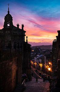 Zonsondergang bij Santiago