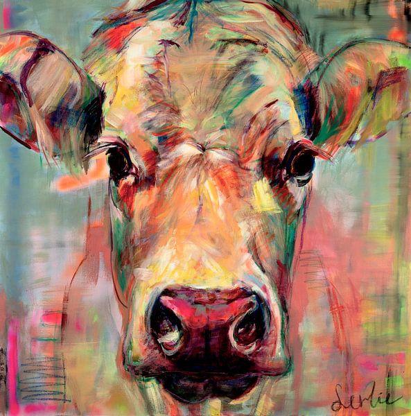 Porträt Kuh 'süße Dame Jane' von Liesbeth Serlie