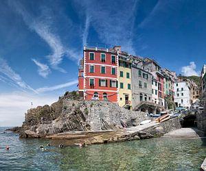 Riomaggiore, Cinque Terre, Italy. van
