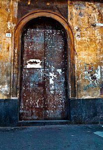 Old Sicilian door in Catania
