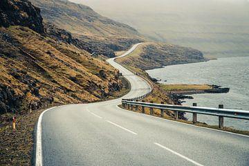 Weg op de Faeröer Eilanden van Expeditie Aardbol