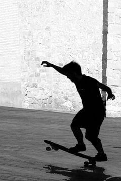Een skater in Barcelona