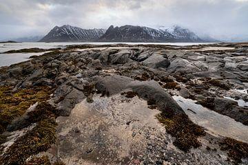 Gimsoysand Beach Lofoten Norway van Ab Wubben