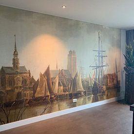 Kundenfoto: Ansicht von Dordrecht bei Sonnenuntergang, Aelbert Cuyp von Meesterlijcke Meesters