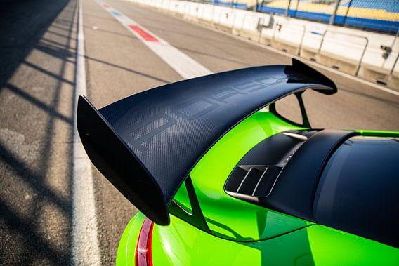 Spoiler Porsche 911 GT3 RS op het circuit van Assen