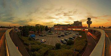 Flughafen Tegel Sonnenuntergang Panorama von Frank Herrmann
