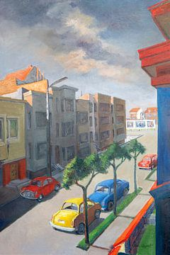 Straße in De Panne von Galerie Ringoot